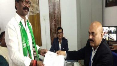Photo of Hemant Soren files nomination from Dumka assembly seat