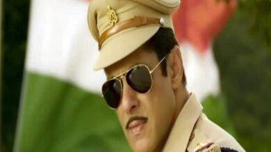 Photo of Salman Khan shares video of 'Hud Hud Dabangg' song