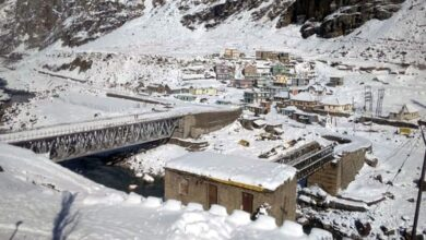 Photo of Kalpa in Himachal wrapped in snow blanket