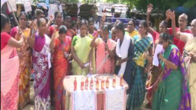 Photo of TN: Women protest against liquor shop in Rameswaram