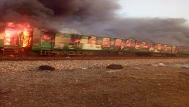 Photo of Tezgam express train fire: Six Pak railway officials suspended