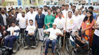 Photo of GHMC distributes free wheelchairs on World Disability Day