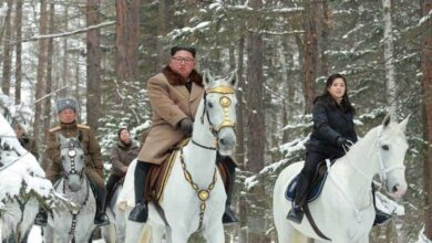 Photo of North Korea's Kim in new horse ride through winter snows
