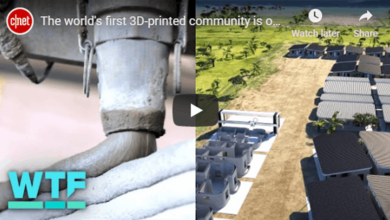 Photo of The world's first 3D-printed community is under construction