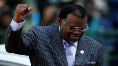Photo of Namibia President Geingob wins second term