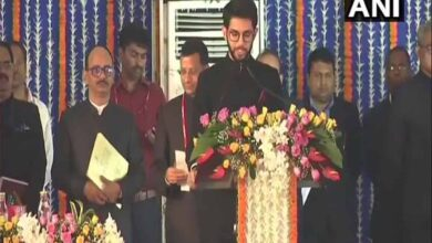 Photo of Aaditya Thackeray takes oath as minister in Maharashtra govt