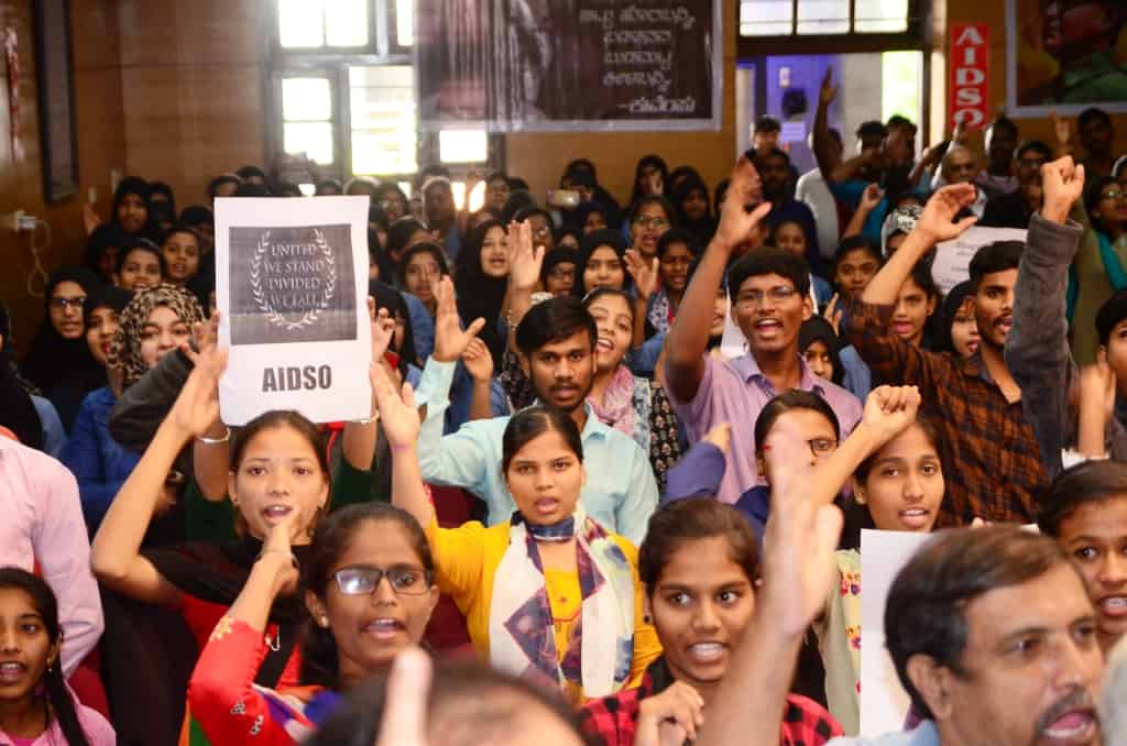 AIDSO organizes massive convention to oppose CAA, NRC