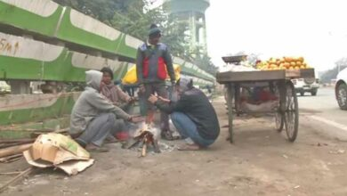Photo of People on streets light bonfires as winter chill grips Patna