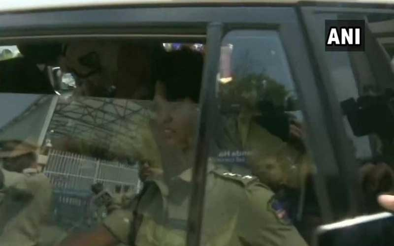 Trupti Desai detained from outside Telangana CM's residence