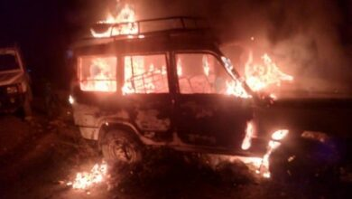 Photo of Abandoned car goes up in flames, minor Nepali girl killed