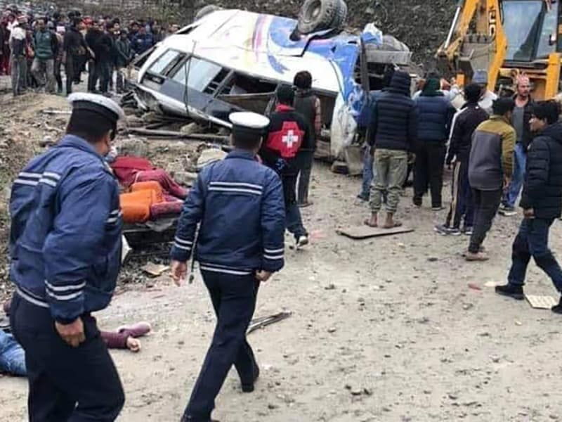 Nepal: Death toll in Sindhupalchok's bus accident rises to 14