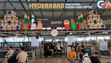 Photo of Hyderabad Airport decked up for the Christmas and New Year