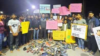 Photo of Shoes Satyagraha: IIM Bengaluru use footwear to protest CAA-NRC