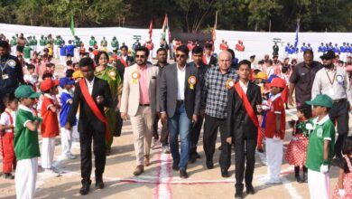 Photo of Students of Sultan-ul-Uloom  awarded with best march past trophy
