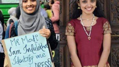 Photo of 18-year-old Indulekha gives befitting response to Modi