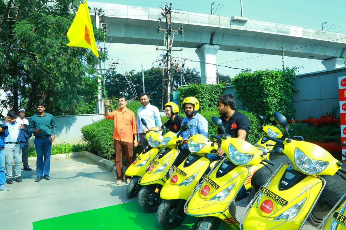 Bounce launches dockless scooter sharing service in Hyderabad