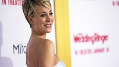 Kaley Cuoco celebrates 34th birthday on 'The Flight Attendant' sets