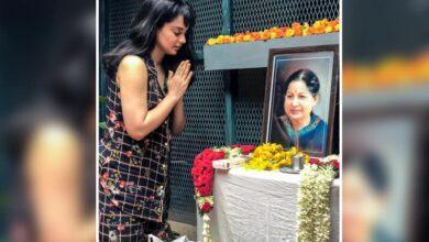 Photo of Kangana pays homage to Jayalalithaa on 3rd death anniversary