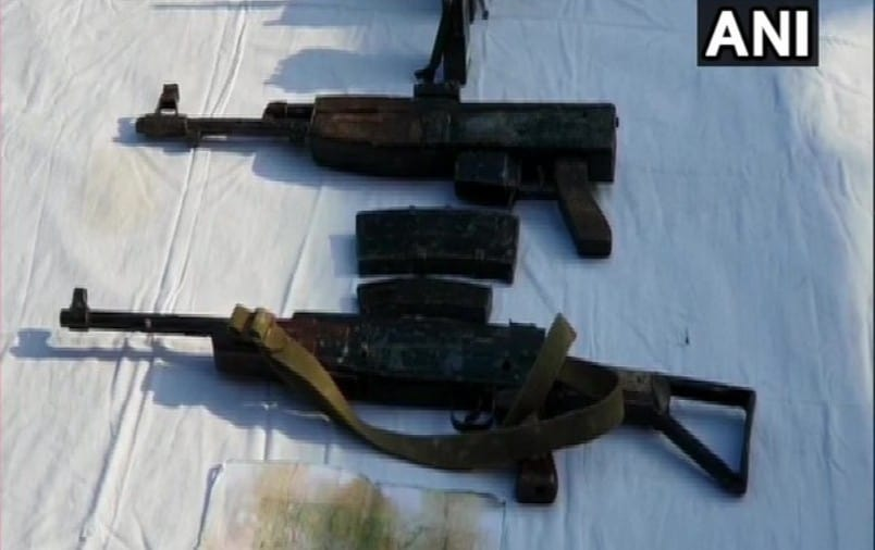 Cache of arms recovered in Kashmir's Sopore