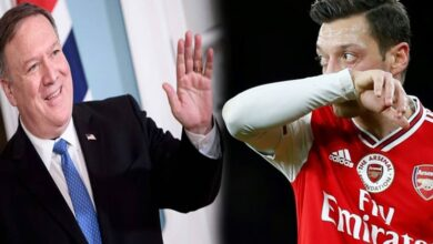 Mike Pompeo and Mesut Ozil
