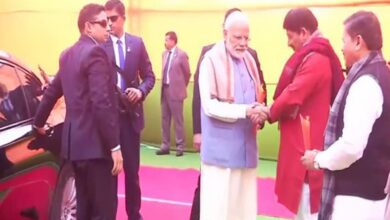 Photo of PM Narendra Modi arrives at Ramlila Maidan for public rally