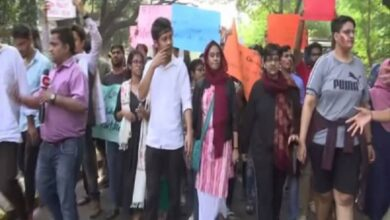 Photo of TISS students protest police action in Jamia Nagar violence