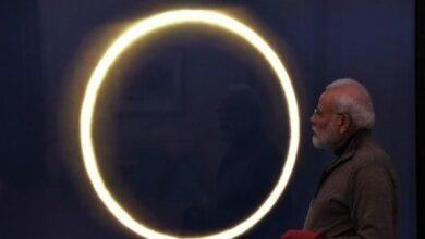 Photo of PM Modi catches glimpse of solar eclipse through live stream