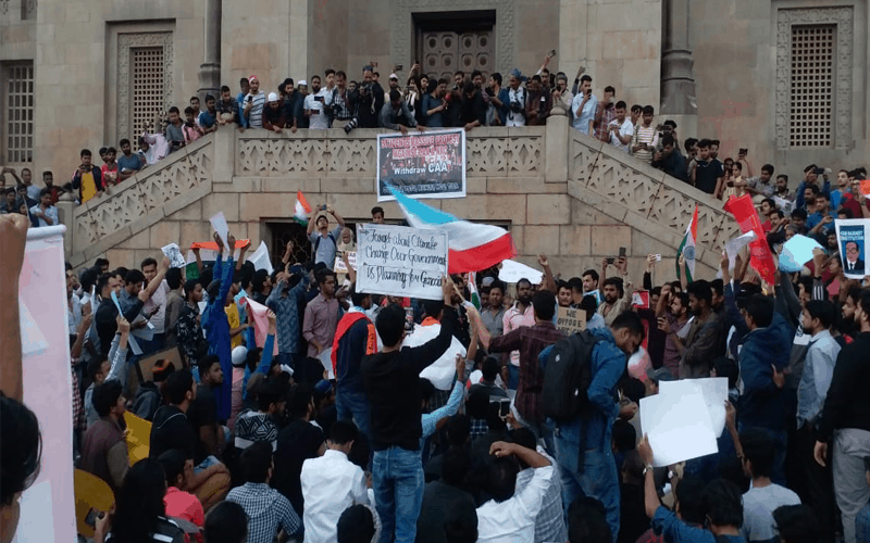 Students take out rally in Osmania University against CAA-NRC