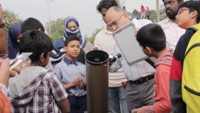 Photo of MANUU faculty facilitates solar eclipse watch