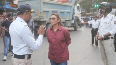 Photo of Rani Mukerji hits the streets to meet traffic police