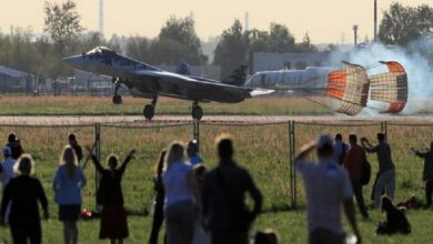 Photo of Russian fighter jet crashes, pilot ejects safely