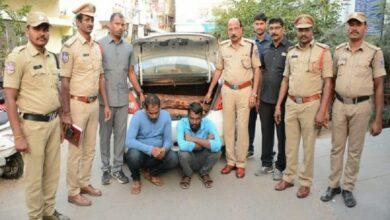Photo of TS: Police bust red sandalwood smuggling racket, 2 arrested