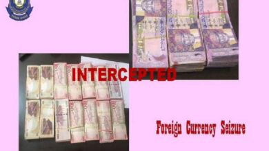 Photo of 2 men held at Delhi airport for smuggling foreign currency