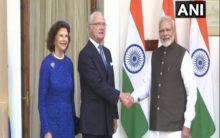 Swedish King Hubertus, Queen Silvia meet PM at Hyderabad House
