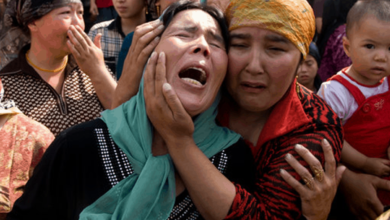 Photo of Children as well as Uighur women victimized in China