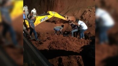 Photo of K'taka: 3 dead, 1 injured after landslide at construction site