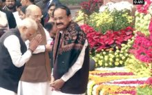VP, PM pay floral tributes to those killed in Parliament attack