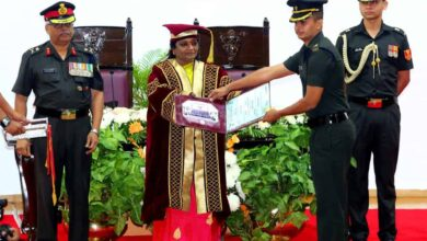Photo of TS Governor confers engineering degrees to Indian army officers