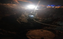Pune: Three out of five people trapped in drainage hole rescued
