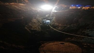 Photo of Pune: Three out of five people trapped in drainage hole rescued