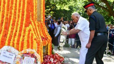 Photo of K'taka: CM pays tribute to martyrs at National Military Memorial