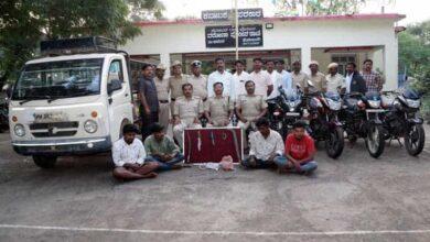 Photo of K'taka: Police arrest 4-member gang, seize lethal weapons