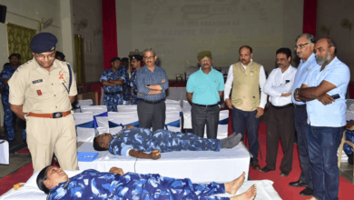 Hyderabad: Blood Donation at RAF-CRPF Campus held