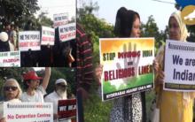 Hyderabad: Protest against NRC and Citizenship Amendment Bill
