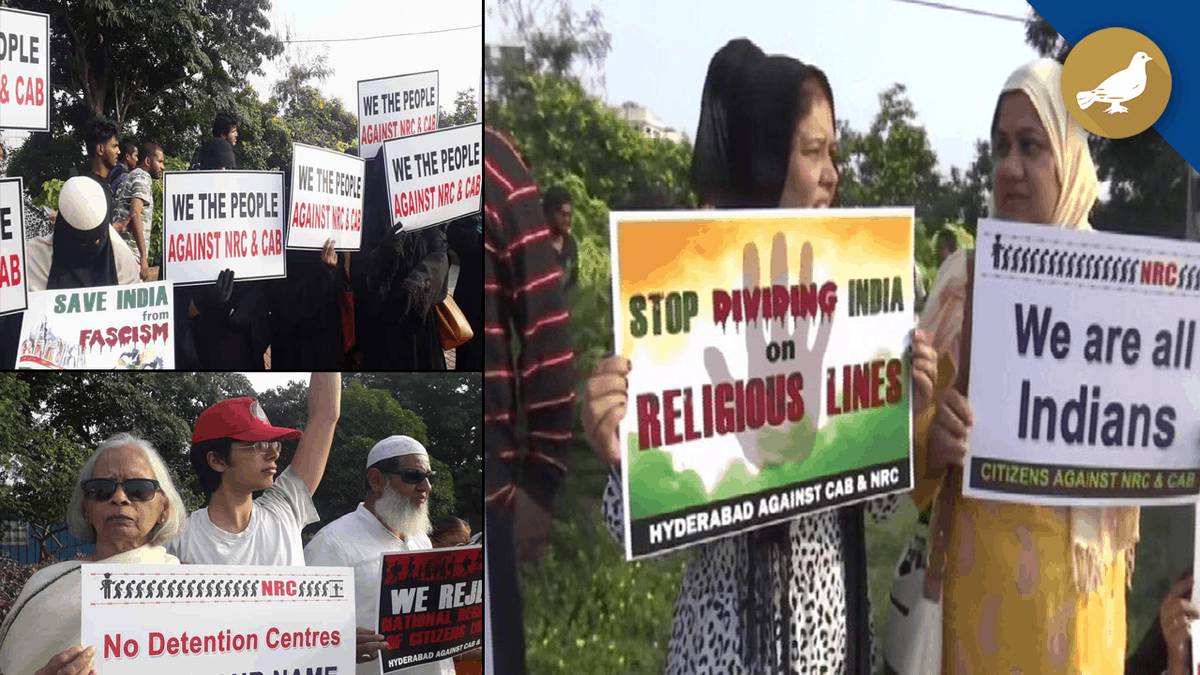 Hyderabad: Protest against NRC and Citizenship Amendment Bill