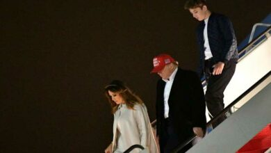 Photo of US first lady wades into impeachment fight to defend teen son