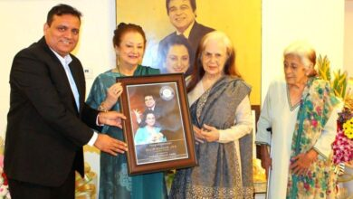 Photo of Dilip Kumar honoured by World Book of Records