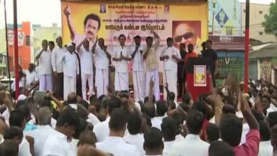 Photo of DMK chief Stalin protests against citizenship law