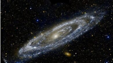 Photo of Centre of Milky Way Galaxy saw candy-cane like structure: Study