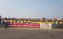 Bhopal Gas Tragedy:Human chain formed near Union Carbide factory